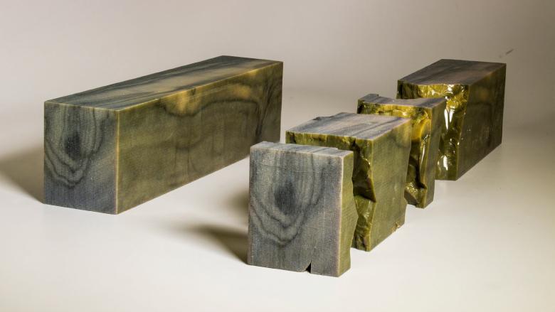 """""""บล็อกไม้"""" จากการพิมพ์สามมิติที่ได้ลายไม้เหมือนจริง โดยนักวิจัยมหาวิทยาลัยโคลัมเบีย"""